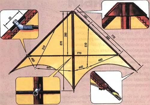 Видео как сделать воздушного змея своими руками